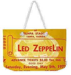 Led Zeppelin Ticket Weekender Tote Bag by David Lee Thompson
