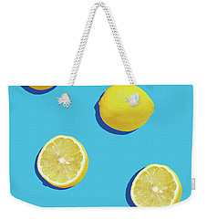 Lemon Pattern Weekender Tote Bag by Rafael Farias