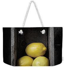 Lemons Still Life Weekender Tote Bag by Edward Fielding