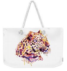 Leopard Head Weekender Tote Bag by Marian Voicu