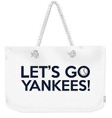 Let's Go Yankees Weekender Tote Bag by Florian Rodarte
