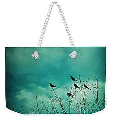 Like Birds On Trees Weekender Tote Bag by Trish Mistric