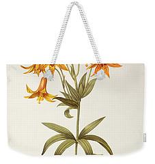 Lilium Penduliflorum Weekender Tote Bag by Pierre Joseph Redoute
