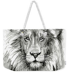 Lion Watercolor  Weekender Tote Bag by Olga Shvartsur