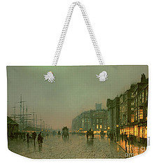 Liverpool Docks From Wapping Weekender Tote Bag by John Atkinson Grimshaw