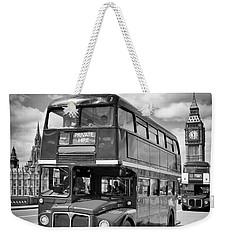 London Classical Streetscene Weekender Tote Bag by Melanie Viola