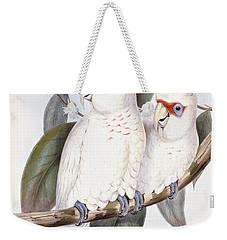 Long-billed Cockatoo Weekender Tote Bag by John Gould