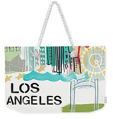 Los Angeles Cityscape- Art By Linda Woods Weekender Tote Bag by Linda Woods