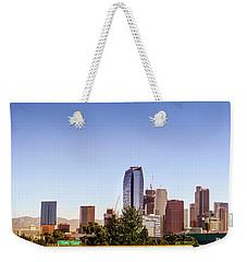 Los Angeles Skyline  Weekender Tote Bag by Gene Parks