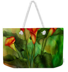Love Among The Lilies  Weekender Tote Bag by Carol Cavalaris