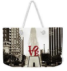 Love In Philadelphia Weekender Tote Bag by Bill Cannon