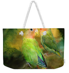 Love In The Golden Mist Weekender Tote Bag by Carol Cavalaris