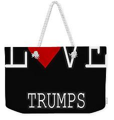 Love Trumps Hate Weekender Tote Bag by Dan Sproul