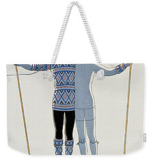 Lovers In The Snow Weekender Tote Bag by Georges Barbier