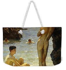 Lovers Of The Sun Weekender Tote Bag by Henry Scott Tuke