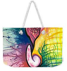 Lucky Elephant Spirit Weekender Tote Bag by Sarah Jane