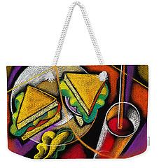 Lunch Weekender Tote Bag by Leon Zernitsky