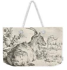 Lying Goat Weekender Tote Bag by Adriaen van de Velde
