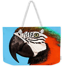 Macaw Bird - Rain Forest Royalty Weekender Tote Bag by Sharon Cummings