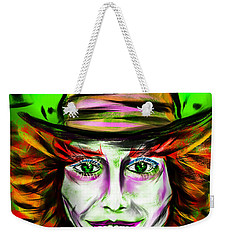 Mad Hatter Weekender Tote Bag by Alessandro Della Pietra