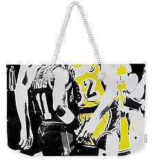 Magic Johnson And Isiah Thomas Weekender Tote Bag by Brian Reaves