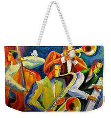 Magic Music Weekender Tote Bag by Leon Zernitsky
