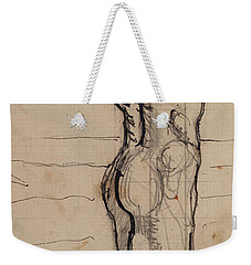 Male Act   Study For The Truth Weekender Tote Bag by Ferdninand Hodler