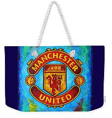 Manchester United Vintage Weekender Tote Bag by Dan Haraga