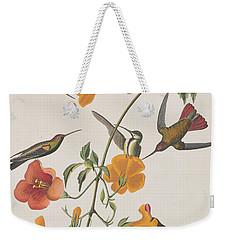 Mango Humming Bird Weekender Tote Bag by John James Audubon