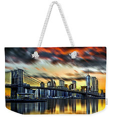 Manhattan Passion Weekender Tote Bag by Az Jackson