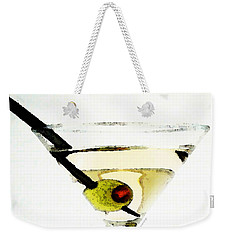 Martini With Green Olive Weekender Tote Bag by Sharon Cummings