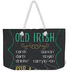 Maxey's Old Irish Pub Weekender Tote Bag by Debbie DeWitt