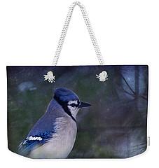 Me Minus You - Blue Weekender Tote Bag by Evelina Kremsdorf