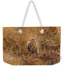 Meadowlark Hiding In Grass Weekender Tote Bag by Robert Frederick
