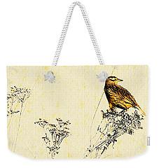 Meadowlark In Kansas Prairie 2 Weekender Tote Bag by Anna Louise