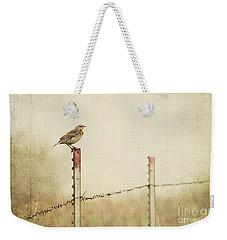 Meadowlark On A Post Weekender Tote Bag by Pam  Holdsworth