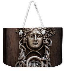 Medusa Head Door Knocker Weekender Tote Bag by Edward Fielding