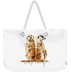 Meerkats Weekender Tote Bag by Marian Voicu