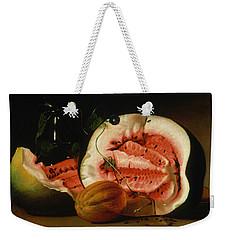 Melons And Morning Glories  Weekender Tote Bag by Raphaelle Peale