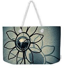 Metal Flower Weekender Tote Bag by Dave Bowman