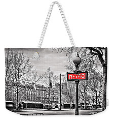 Metro Pont Marie Weekender Tote Bag by Delphimages Photo Creations
