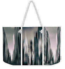 Metropolis Triptych II Weekender Tote Bag by Jessica Jenney
