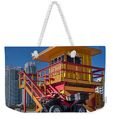 Miami Beach Lifeguard House Ocean Rescue Weekender Tote Bag by Toby McGuire