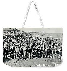 Miami Beach Sunbathers 1921 Weekender Tote Bag by Jon Neidert