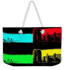 Miami Pop Art Panorama Weekender Tote Bag by Christiane Schulze Art And Photography