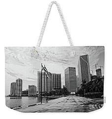 Miami Skyline Weekender Tote Bag by George Martinez
