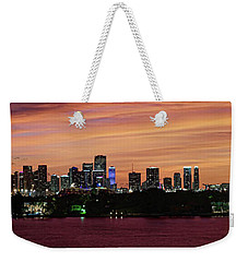 Miami Sunset Panorama Weekender Tote Bag by Gary Dean Mercer Clark
