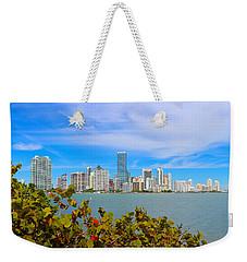 Miami Waterfront 6807 Weekender Tote Bag by Olivia Novak