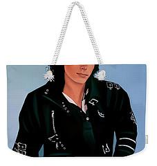 Michael Jackson Bad Weekender Tote Bag by Paul Meijering