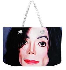 Michael Jackson Mugshot Weekender Tote Bag by Bill Cannon